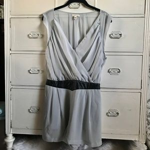 SILENCE+NOISE / Gray Ruched Romper / SZ 10